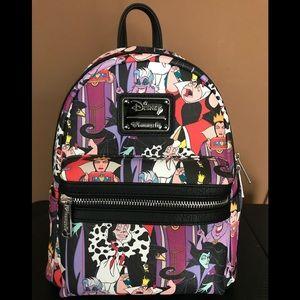 Loungefly Disney Villains Mini Backpack NWT
